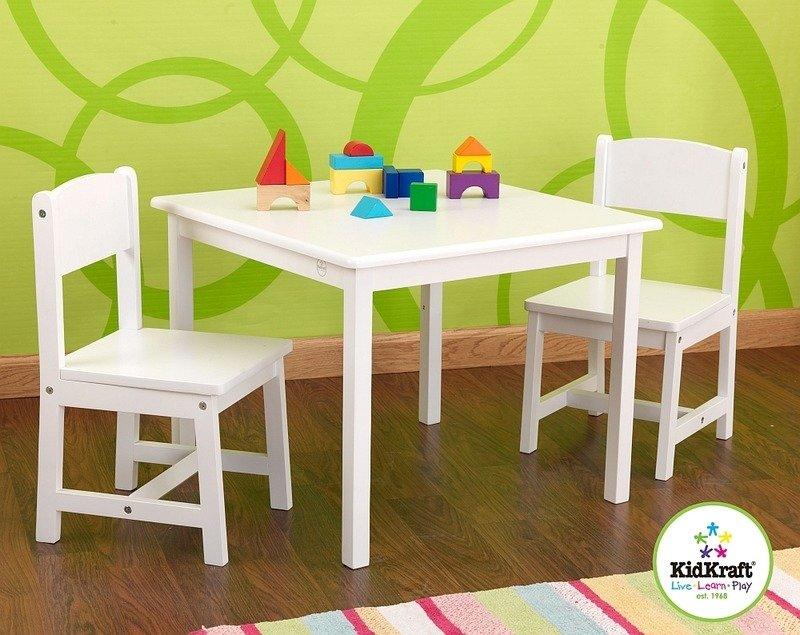 bia y stolik i krzese ka dla dzieci kidkraft wyposa enie pokoju dziecka drewniane stoliki i. Black Bedroom Furniture Sets. Home Design Ideas