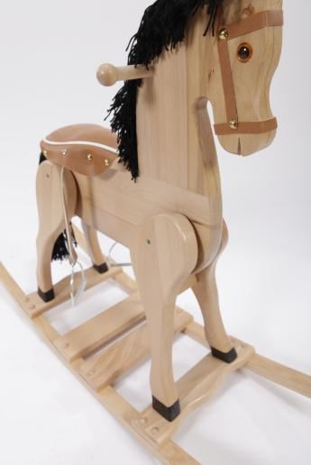 Drewniany Koń Na Biegunach Piękny Rumak Z Siodłem Konie Na