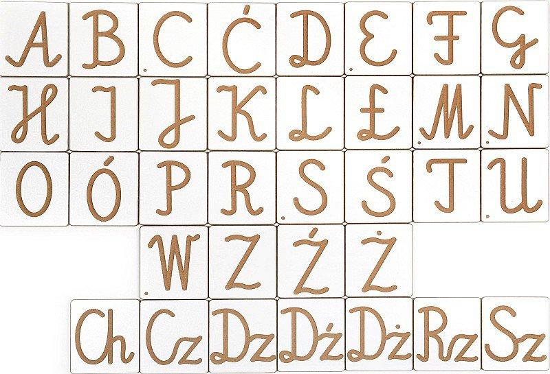 Alfabet Polski Pisany Przestrzenne Litery I Cyfry Pilch Zabawki
