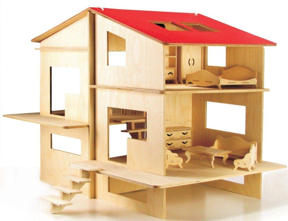 Bardzo dobry Domek dla lalek do złożenia i pomalowania. Kreatywna zabawa SO25
