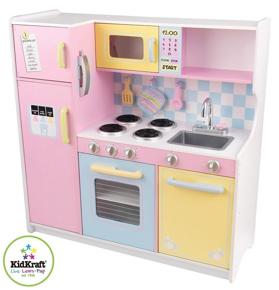 Duża Pastelowa Kuchnia Dla Dzieci Drewniana Kidkraft