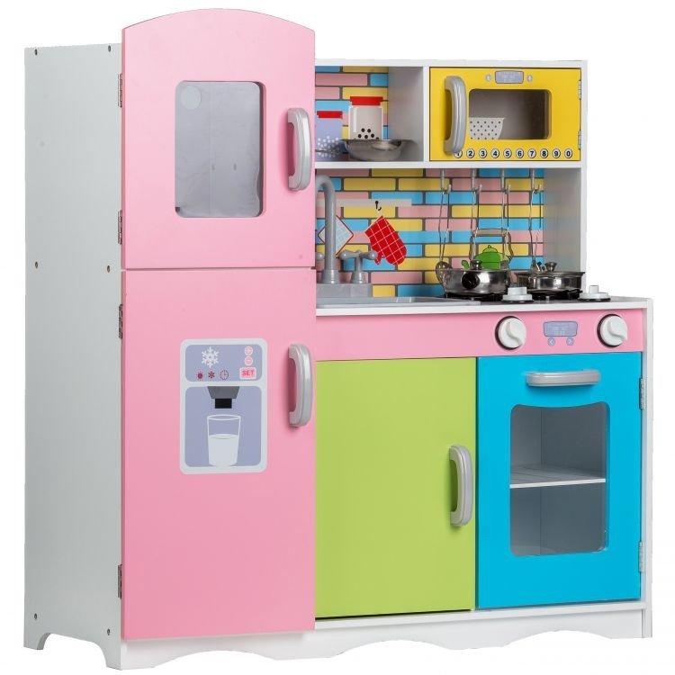 Kolorowa Kuchnia Dla Dziecka Drewniana Xl Ecotoys Zabawa W Sklep