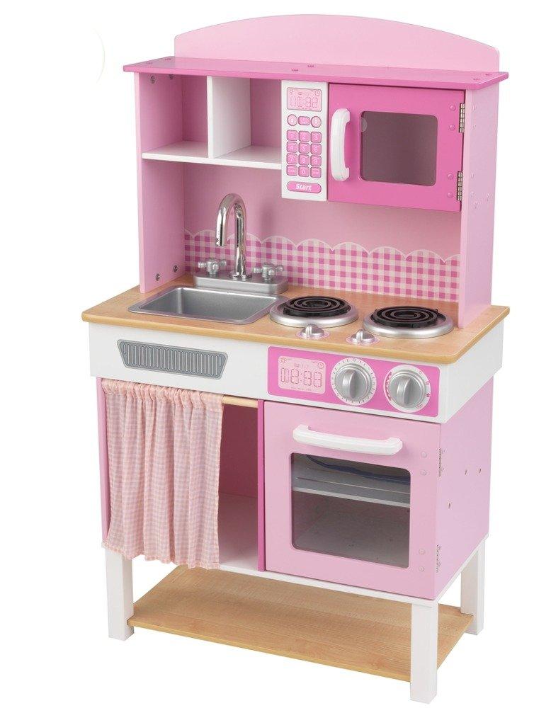 Kuchnia Dla Dzieci Drewniana Rozowa Krateczka Kidkraft Zabawa W
