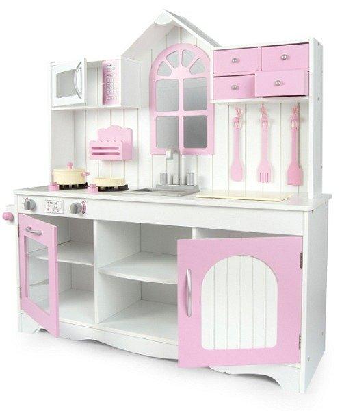 Kuchnia Dla Dziecka Z Oknem Rozowy Aneks Zabawa W Sklep I