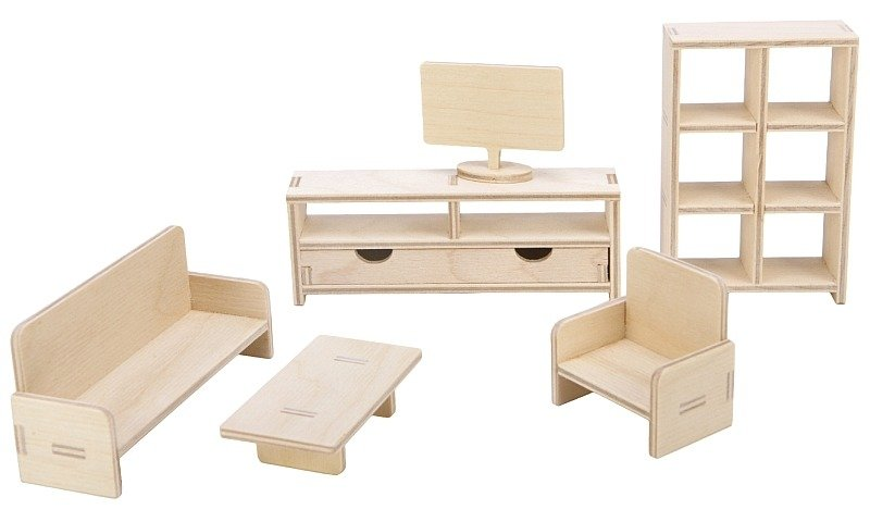Ogromny Mebelki dla lalek, kreatywna zabawa. Salon | Drewniane domki dla HI23