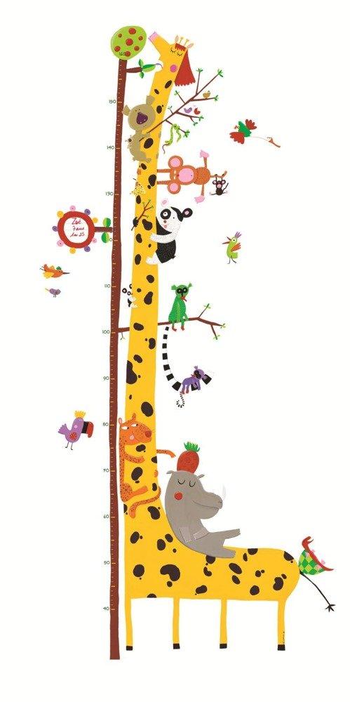 Naklejki Do Pokoju Dziecka Na ścianę Wesołe Zwierzaki Miarka Wzrostu
