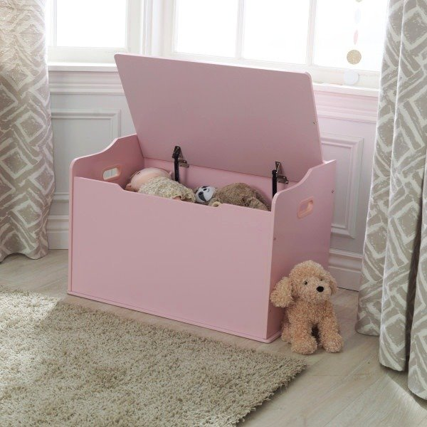 Różowa Skrzynia Na Zabawki ławka Kidkraft Wyposażenie Pokoju