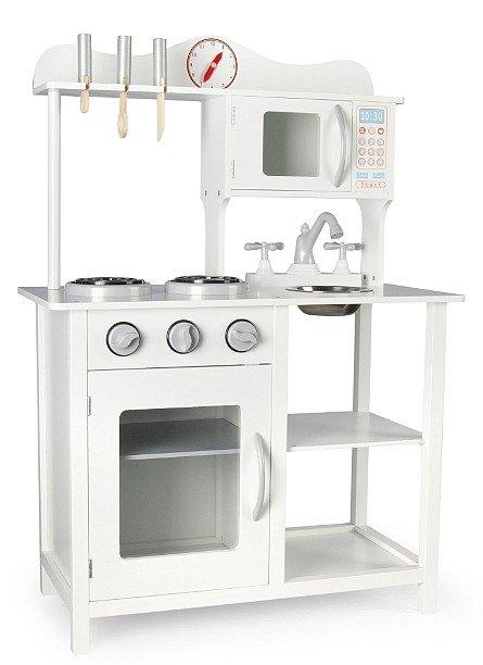 Wysoka Drewniana Kuchnia Dla Dzieci Klasyczna Biel Zabawa