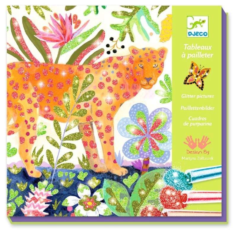 Bardzo dobra Zestaw kreatywny dla dzieci Brokatowa dżungla Djeco | Zabawki GD73