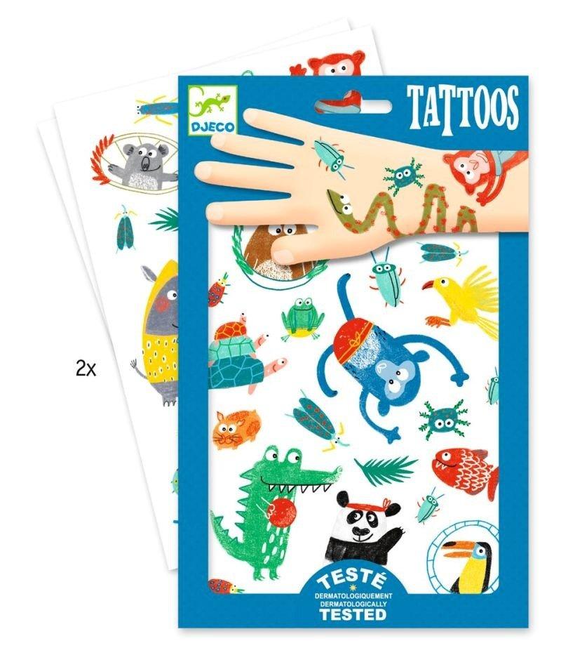 Zmywalne Tatuaże Dla Dzieci Zwierzaczki Djeco Gadżety