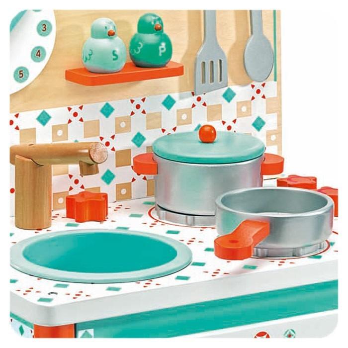 Kuchnia Dla Dziecka Drewniana Turkusowa Pokusa Djeco